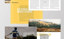 005 Magnificent School Magazine Layout Template Free Download Concept