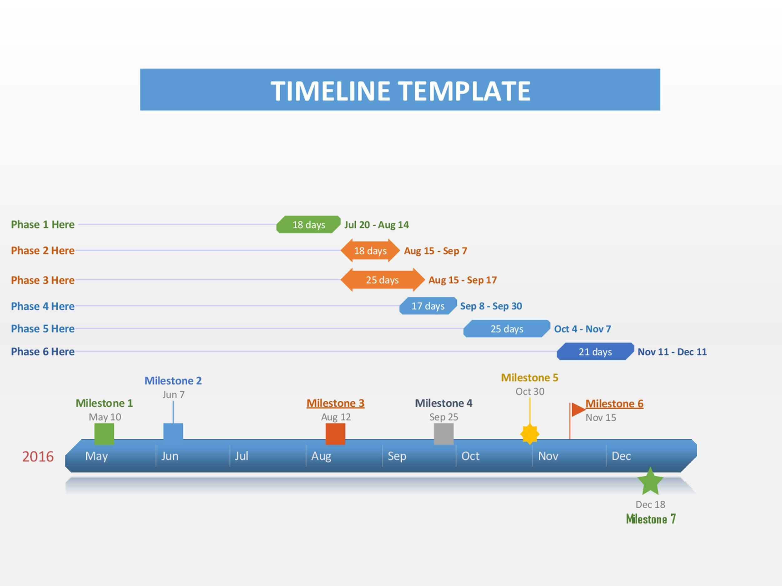 005 Magnificent Timeline Template For Word 2016 High Definition Full