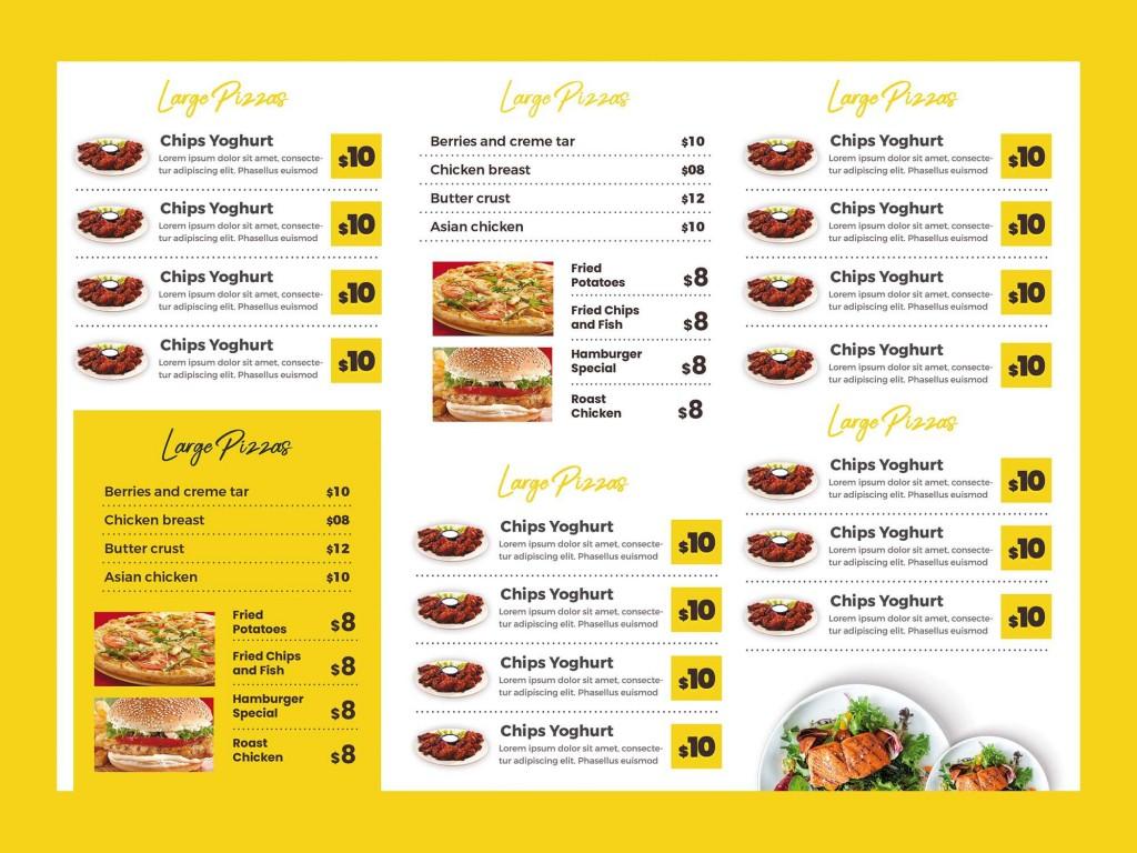005 Magnificent Tri Fold Menu Template Photo  Templates Restaurant Tri-fold Food Free PsdLarge