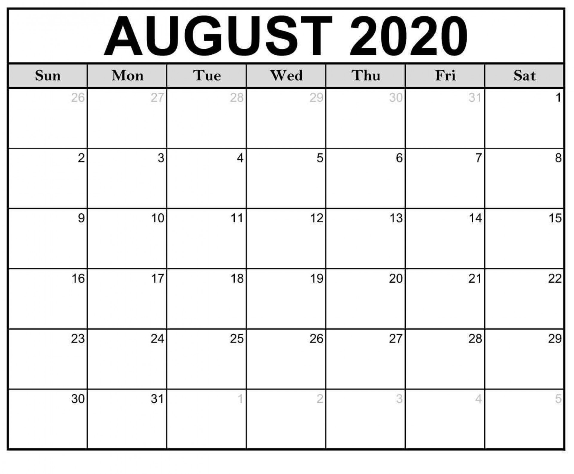 005 Magnificent Word 2020 Monthly Calendar Template Idea  Uk Free1920