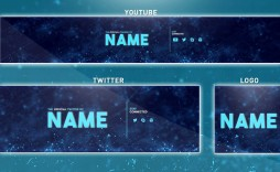 005 Magnificent Youtube Channel Art Template Photoshop Download Image