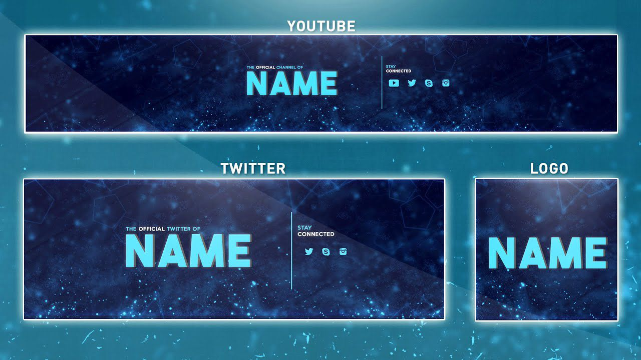 005 Magnificent Youtube Channel Art Template Photoshop Download Image Full