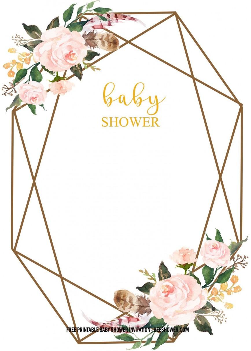 005 Marvelou Baby Shower Invitation Free Template Example  Templates E-invitation Couple Card Design Download