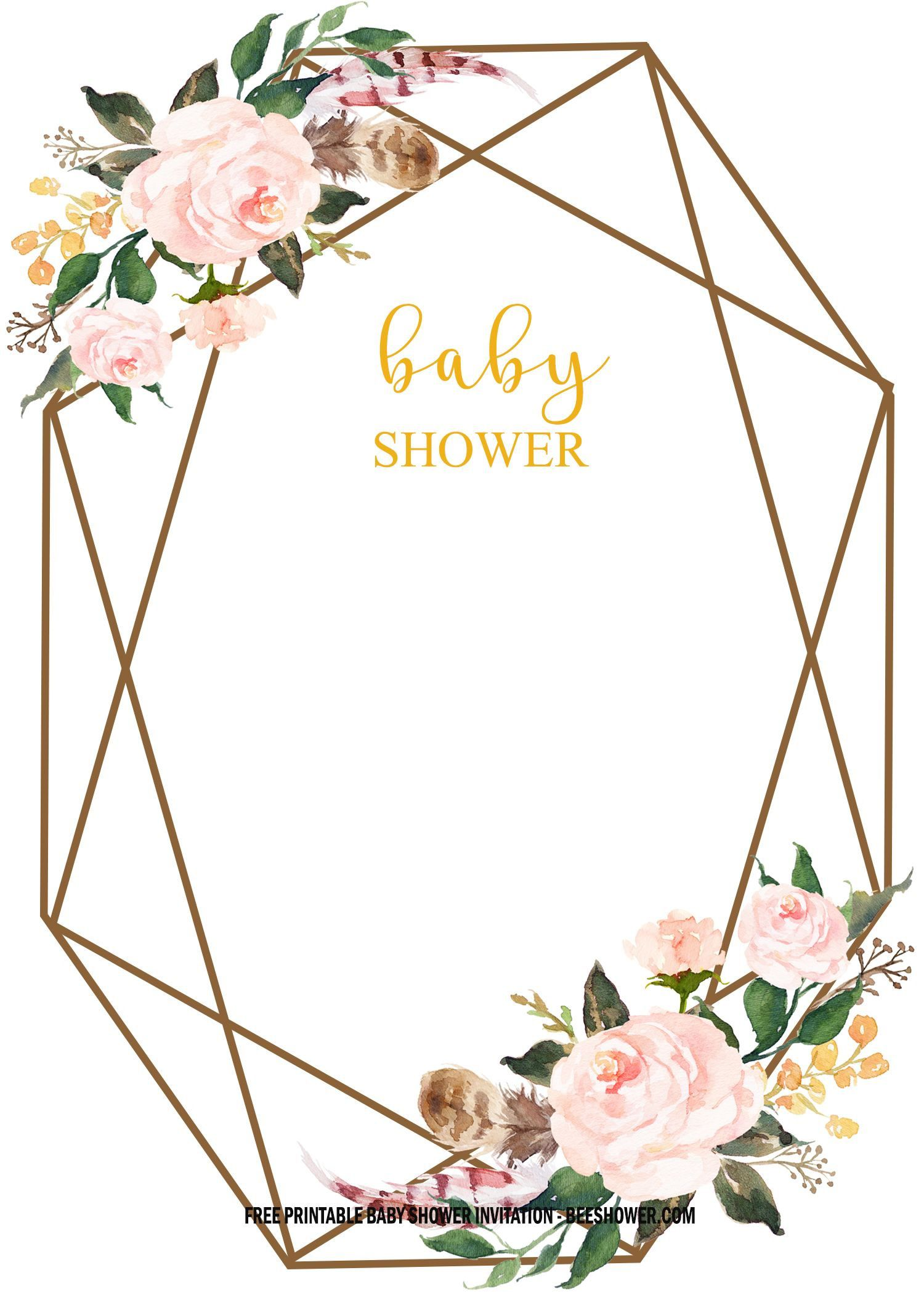 005 Marvelou Baby Shower Invitation Free Template Example  Templates Online Printable E-invitation Card Design DownloadFull