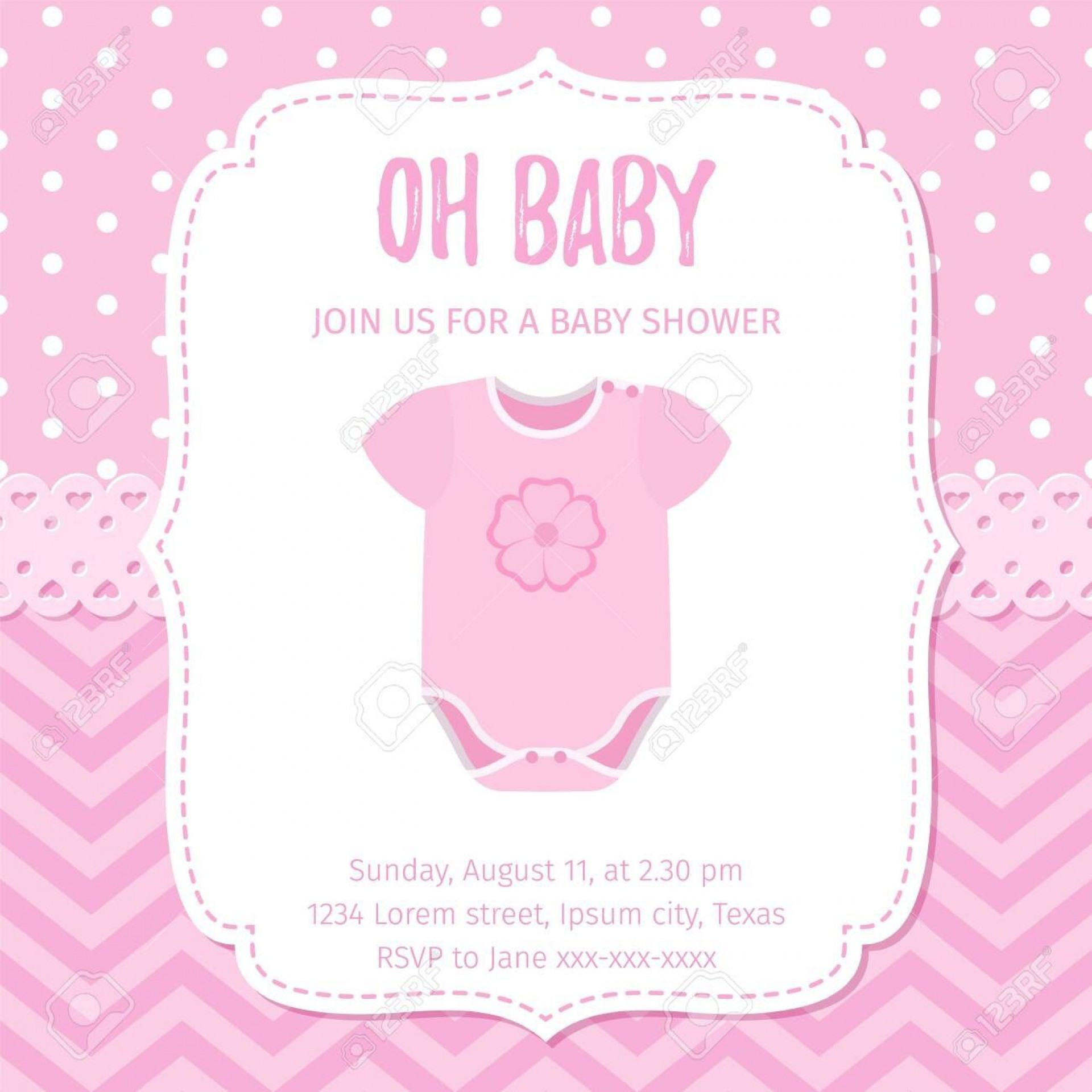 005 Marvelou Baby Shower Template Girl High Definition  Nautical Invitation Free For Word1920