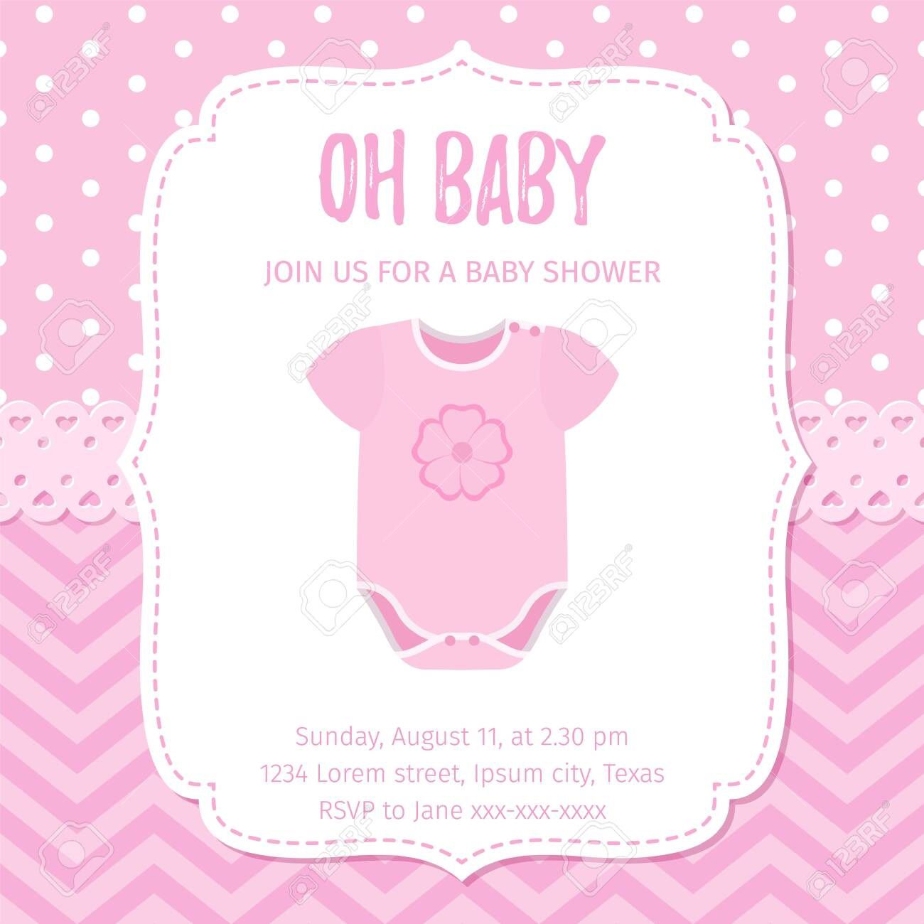 005 Marvelou Baby Shower Template Girl High Definition  Nautical Invitation Free For WordFull