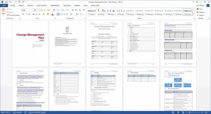 005 Marvelou Change Management Plan Template Idea 728