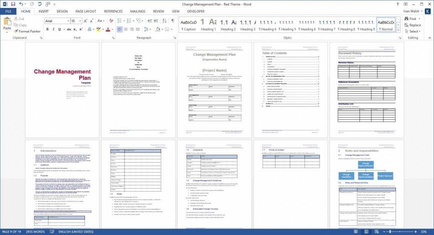 005 Marvelou Change Management Plan Template Idea 868