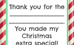 005 Marvelou Christma Thank You Note Template Free Image  Letter Card