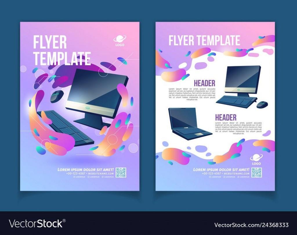005 Marvelou Computer Repair Flyer Template Idea  Word Busines FreeLarge