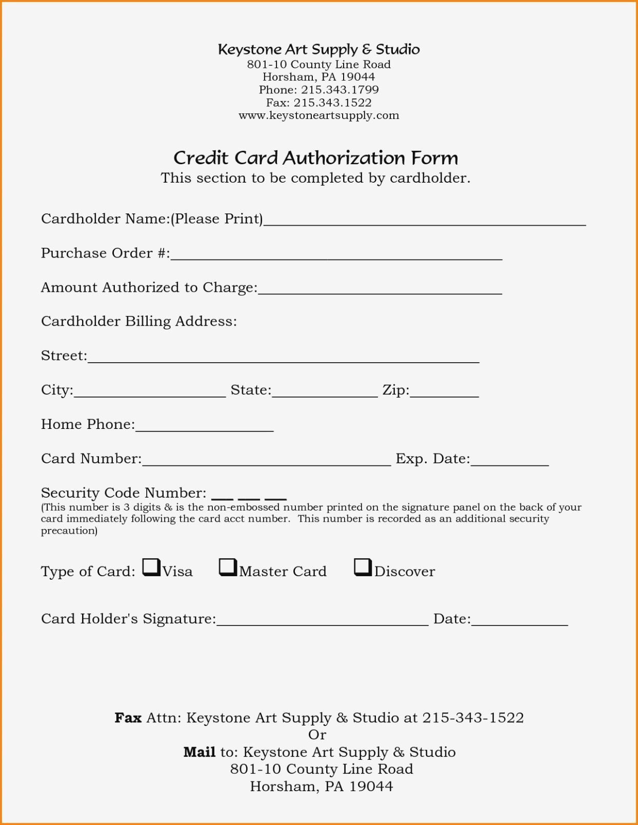 005 Marvelou Credit Card Authorization Template Idea  Form For Travel Agency Free Download Google DocFull