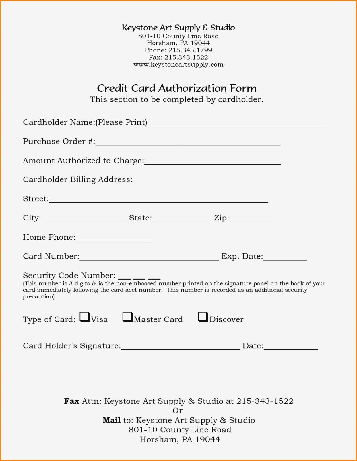 005 Marvelou Credit Card Authorization Template Idea  Form Pdf Fillable FreeFull