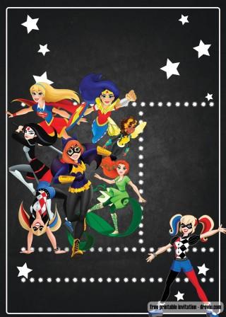 005 Marvelou Editable Superhero Invitation Template Free Highest Quality 320