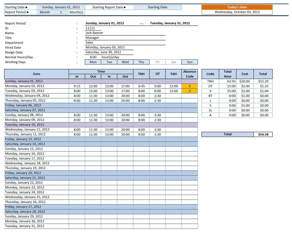 005 Marvelou Employee Time Card Calculator Excel Template Picture 960