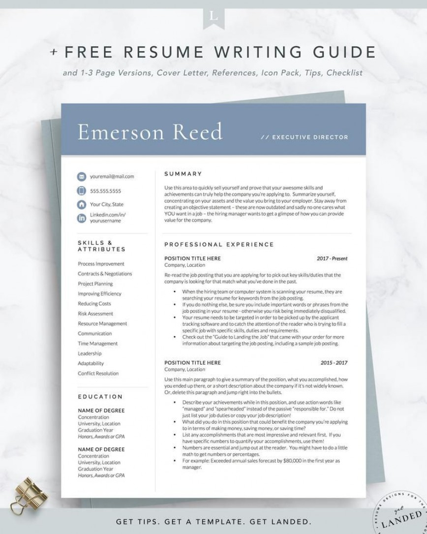 Executive Resume Template Word Addictionary