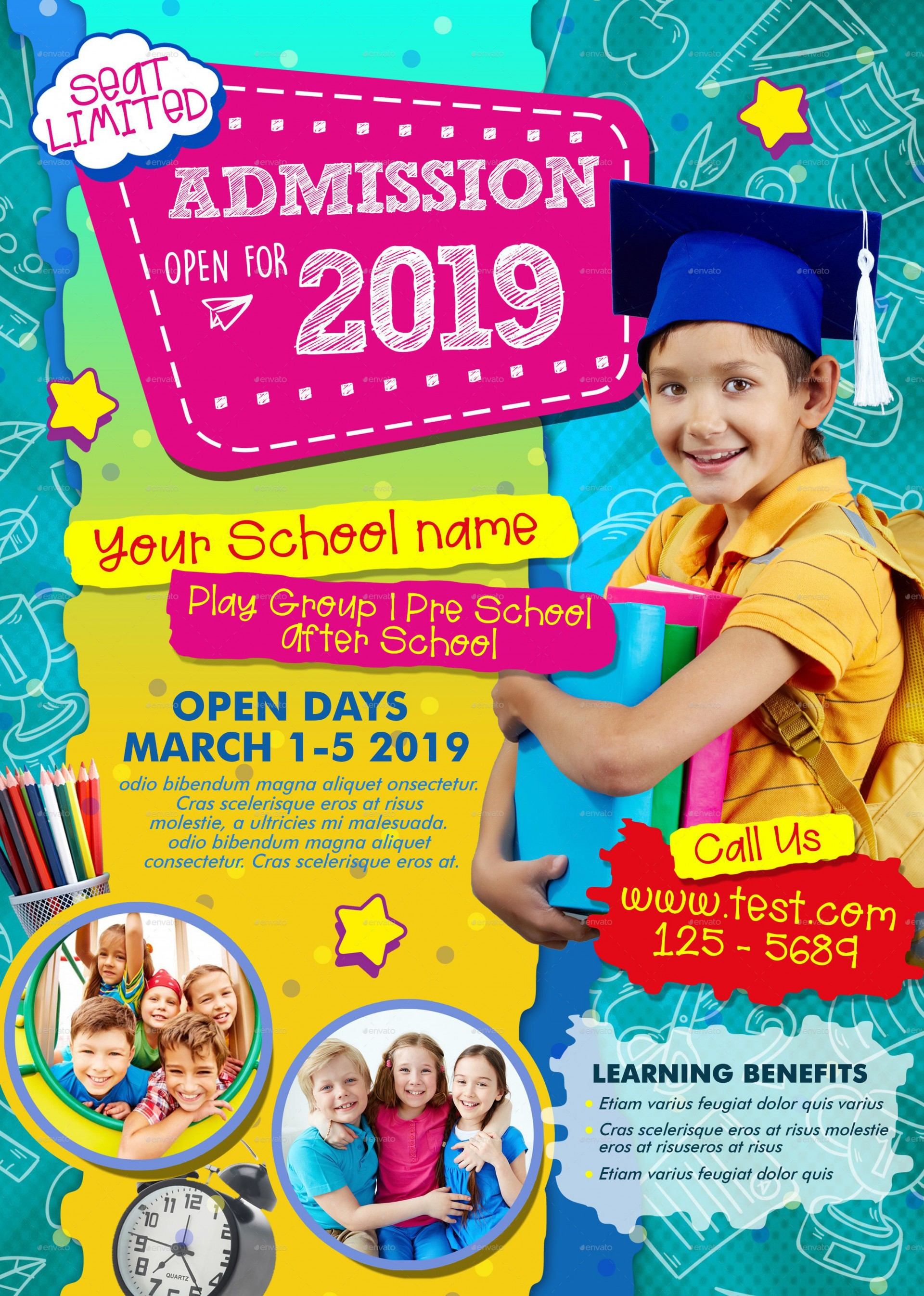 005 Marvelou Free After School Flyer Template Photo  Templates1920
