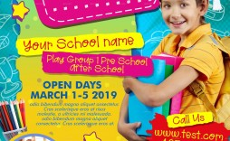 005 Marvelou Free After School Flyer Template Photo  Templates