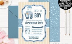 005 Marvelou Free Baby Shower Invitation Template For Boy Photo
