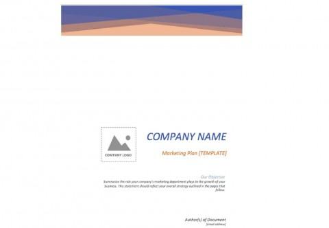 005 Marvelou Free Marketing Plan Template Word Highest Clarity  Digital Download480