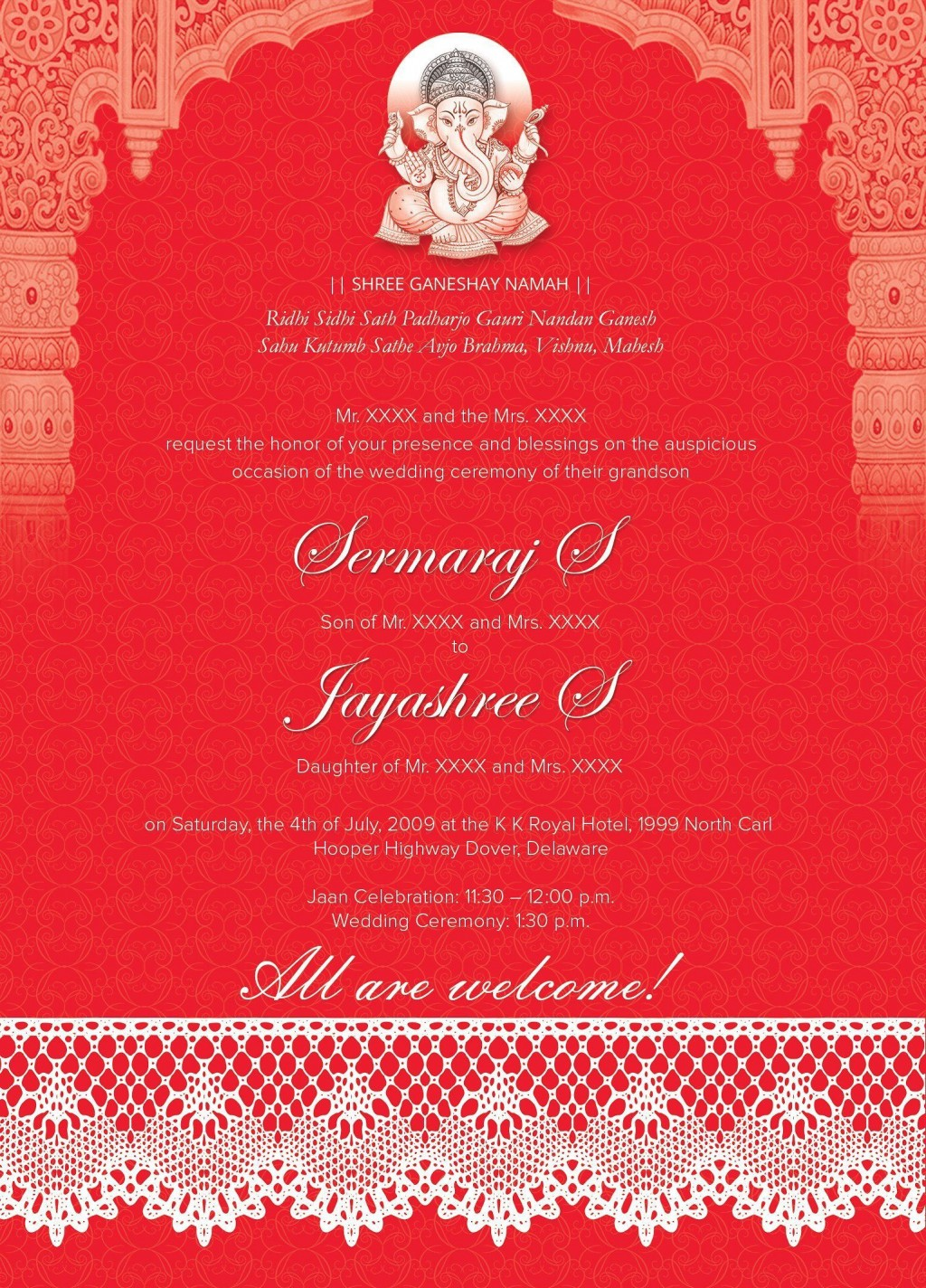 005 Marvelou Free Online Indian Wedding Invitation Card Template Image  TemplatesLarge
