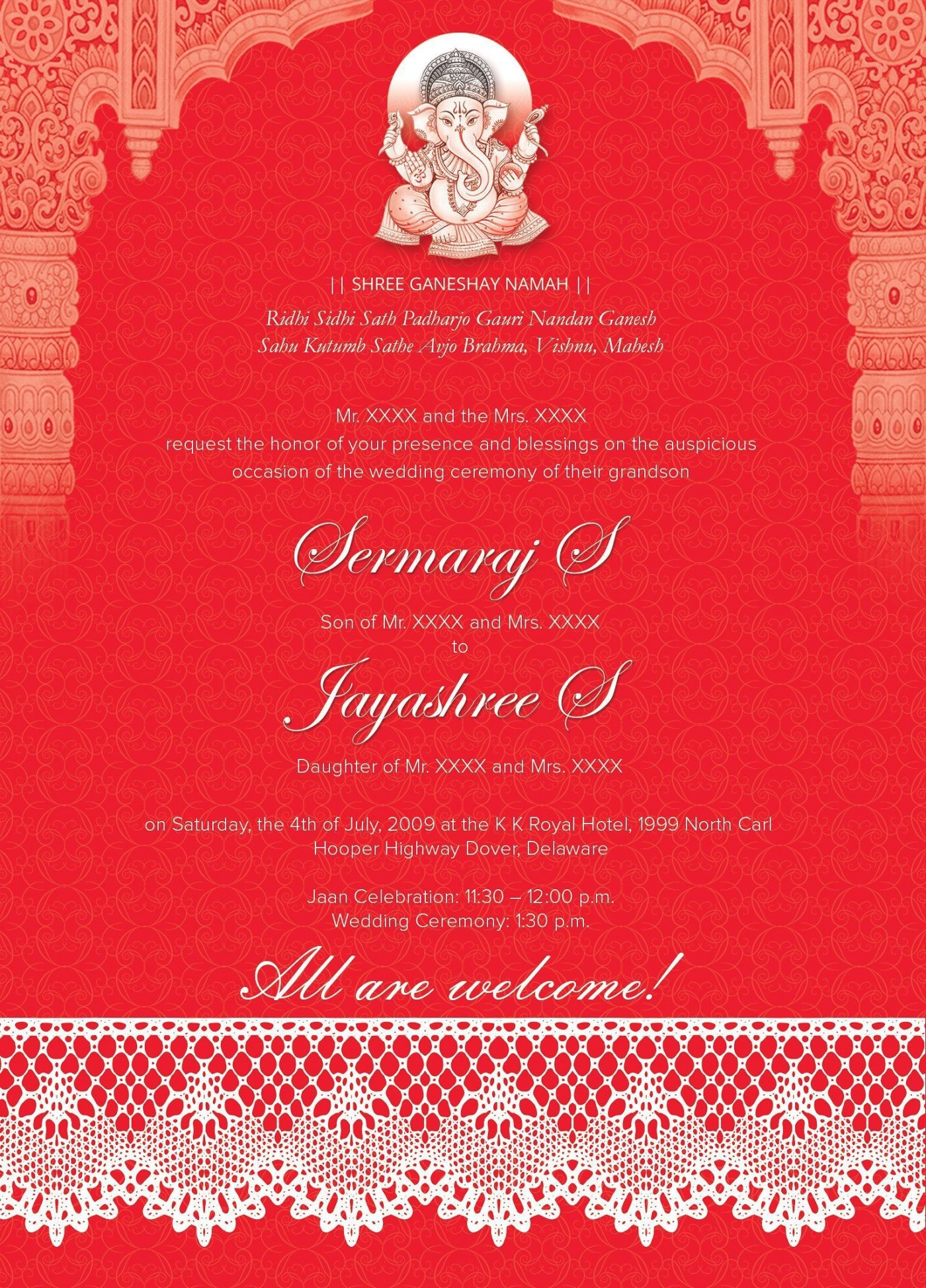 005 Marvelou Free Online Indian Wedding Invitation Card Template Image 1400