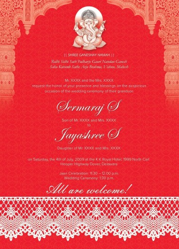 005 Marvelou Free Online Indian Wedding Invitation Card Template Image 360