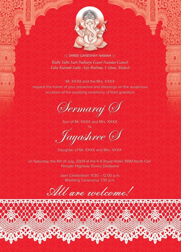 005 Marvelou Free Online Indian Wedding Invitation Card Template Image 728