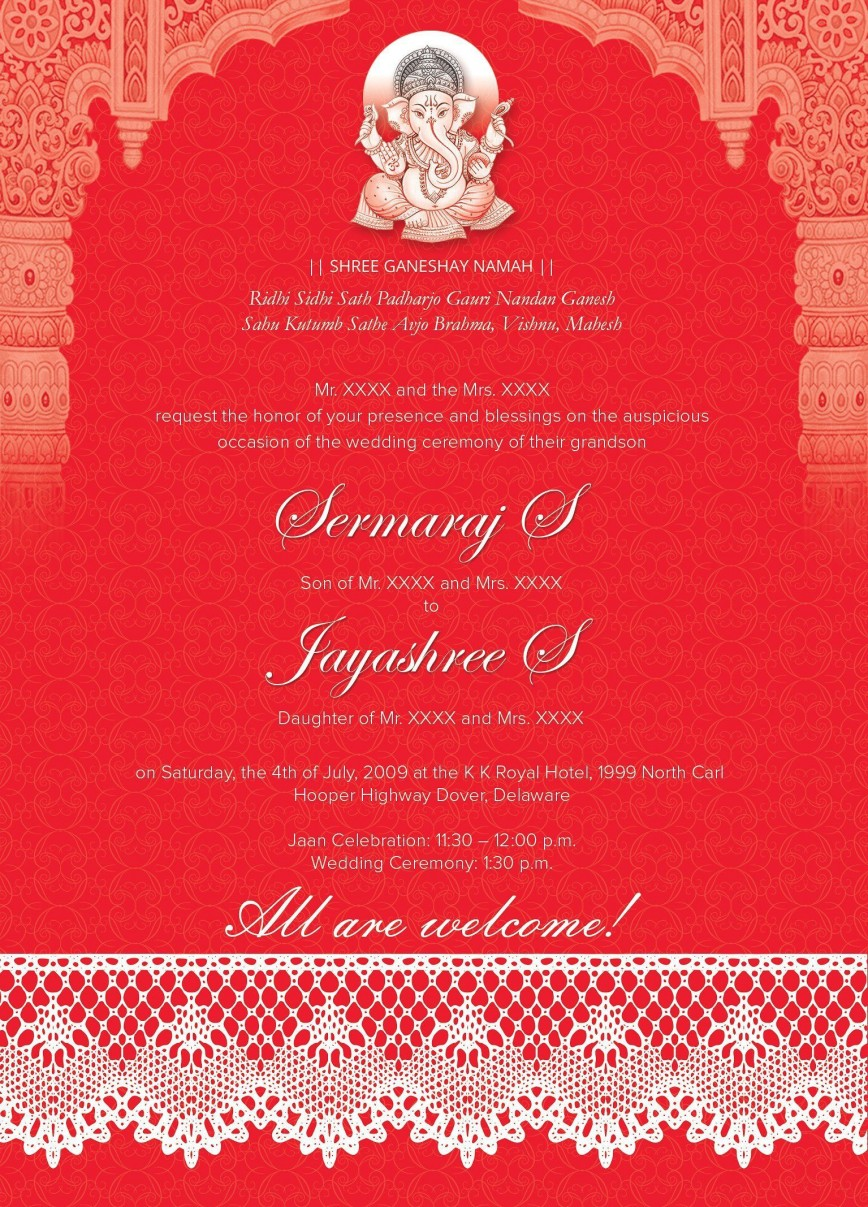 005 Marvelou Free Online Indian Wedding Invitation Card Template Image 868
