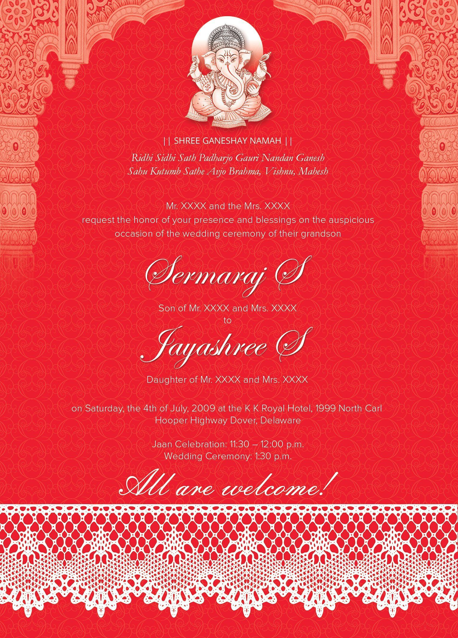 005 Marvelou Free Online Indian Wedding Invitation Card Template Image  TemplatesFull