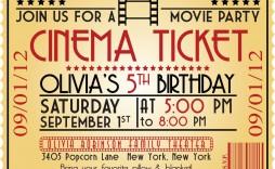 005 Marvelou Free Printable Movie Ticket Birthday Party Invitation Example  Invitations