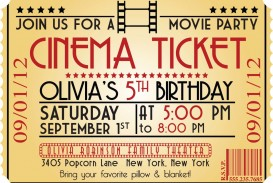005 Marvelou Free Printable Movie Ticket Birthday Party Invitation Example