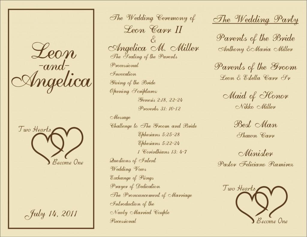 005 Marvelou Free Template For Wedding Ceremony Program Concept Large