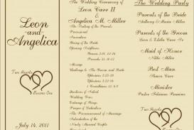 005 Marvelou Free Template For Wedding Ceremony Program Concept