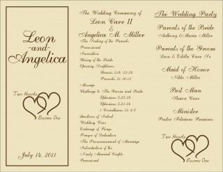 005 Marvelou Free Template For Wedding Ceremony Program Concept 320