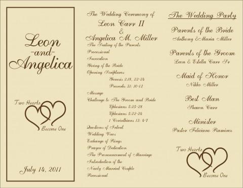 005 Marvelou Free Template For Wedding Ceremony Program Concept 480