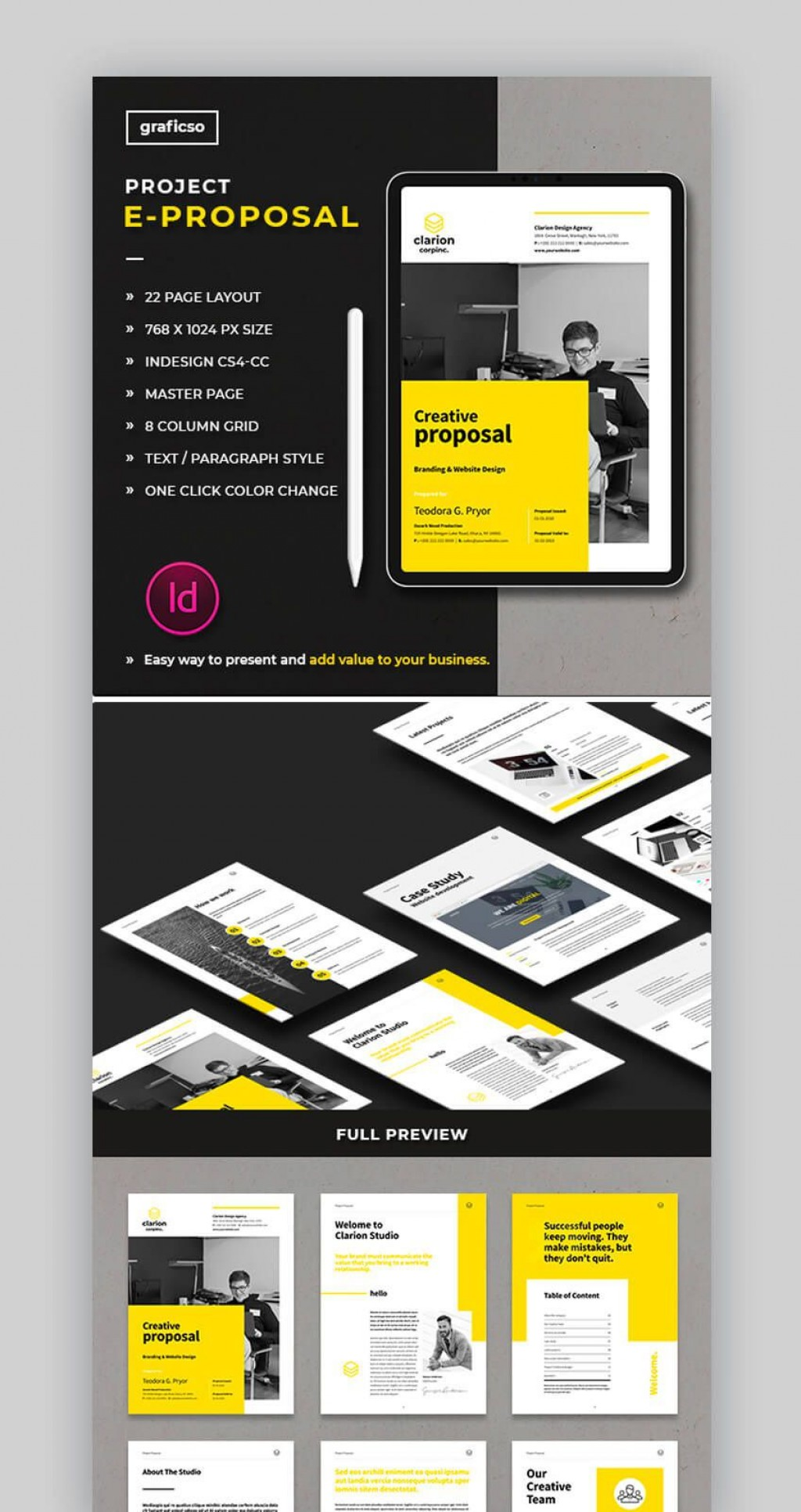 005 Marvelou Graphic Design Proposal Template Word High Def Large