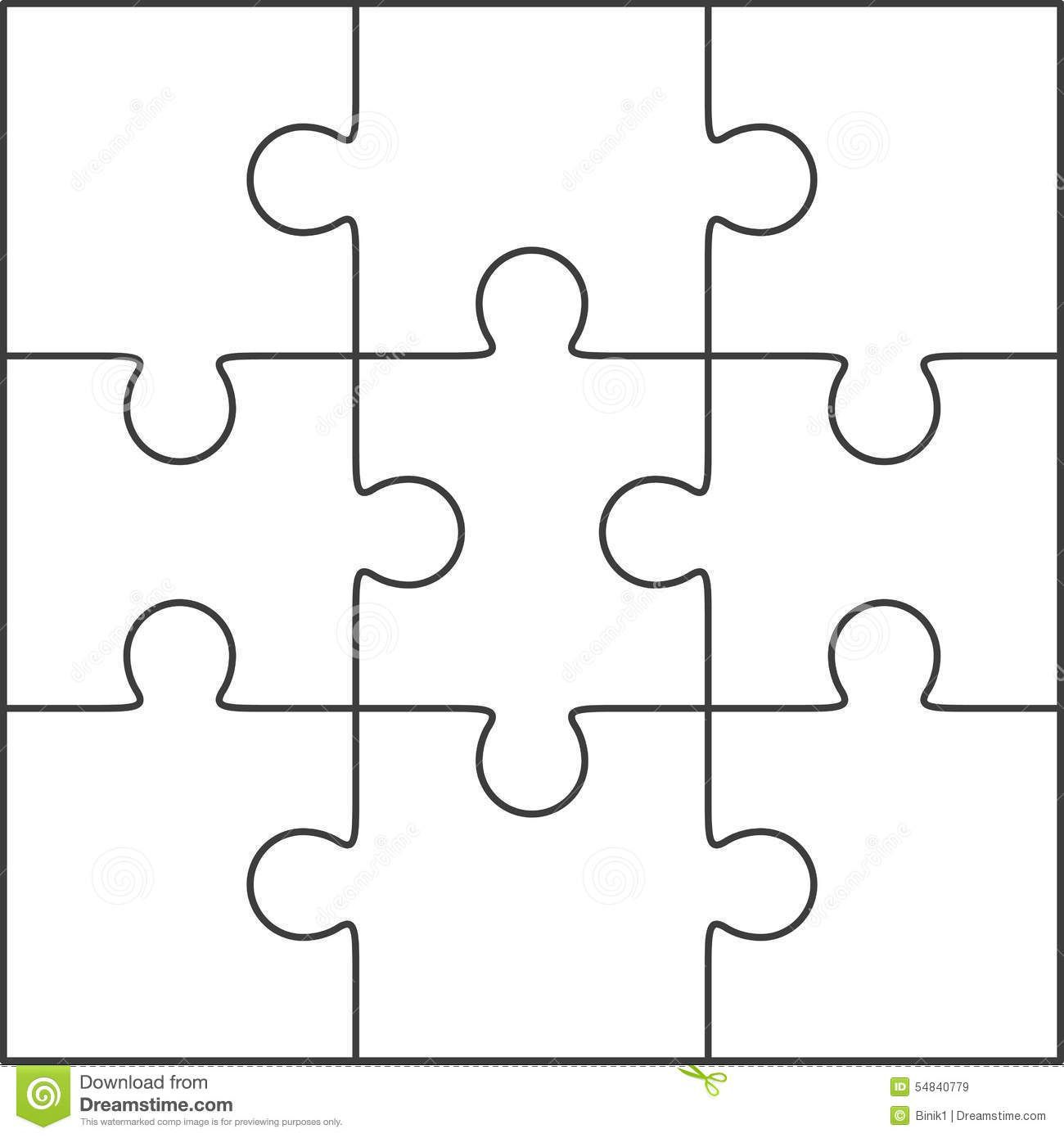 005 Marvelou Jig Saw Puzzle Template Photo  Printable Blank Jigsaw Vector Free PngFull