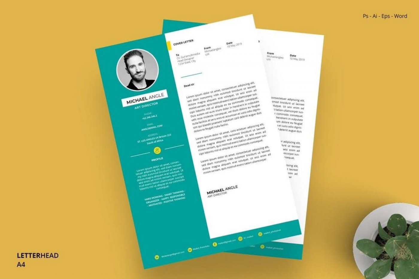 005 Marvelou Letterhead Template Free Download Ai Photo  File1400
