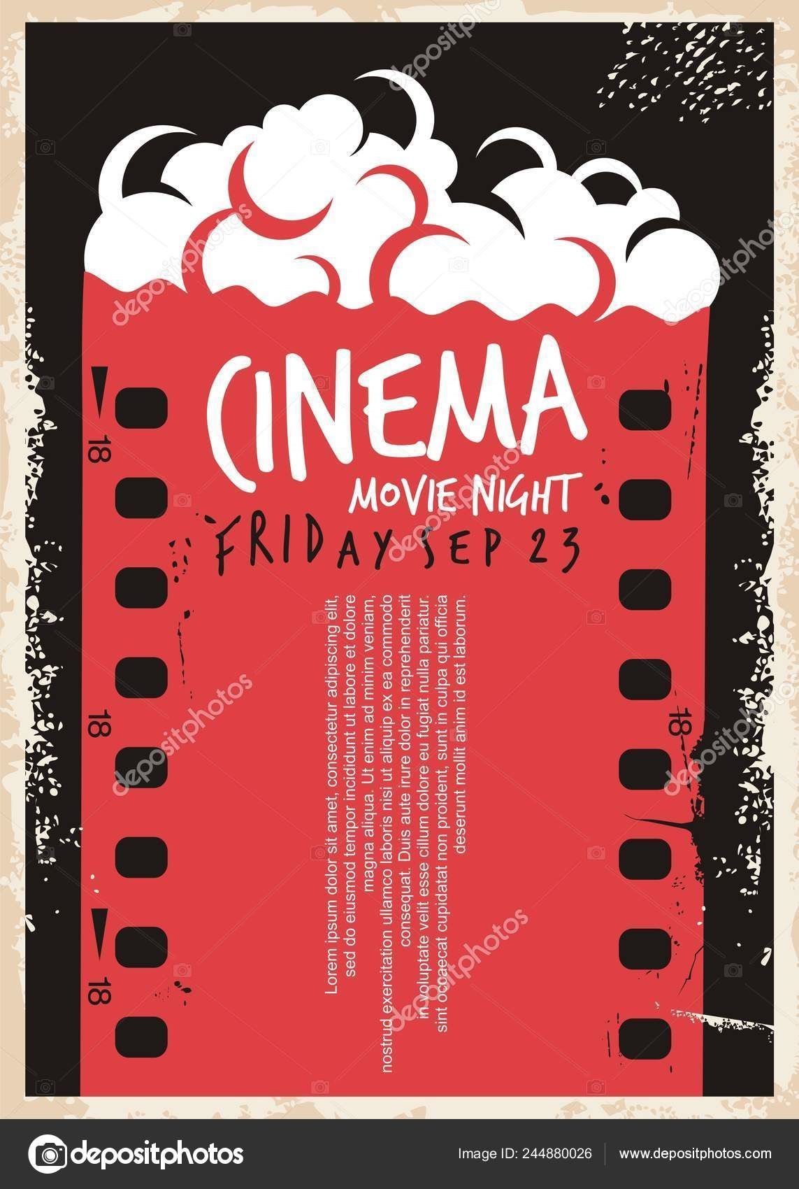 005 Marvelou Movie Night Flyer Template Highest Clarity  Templates Free Microsoft WordFull