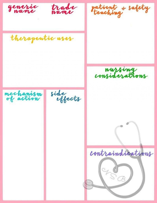 005 Marvelou Nursing School Note Taking Template Idea Large