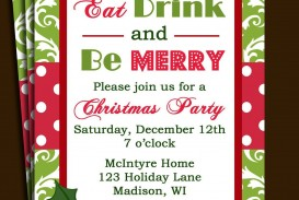 005 Marvelou Office Christma Party Invitation Wording Sample Design  Holiday Example