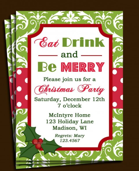 005 Marvelou Office Christma Party Invitation Wording Sample Design  Holiday Example480