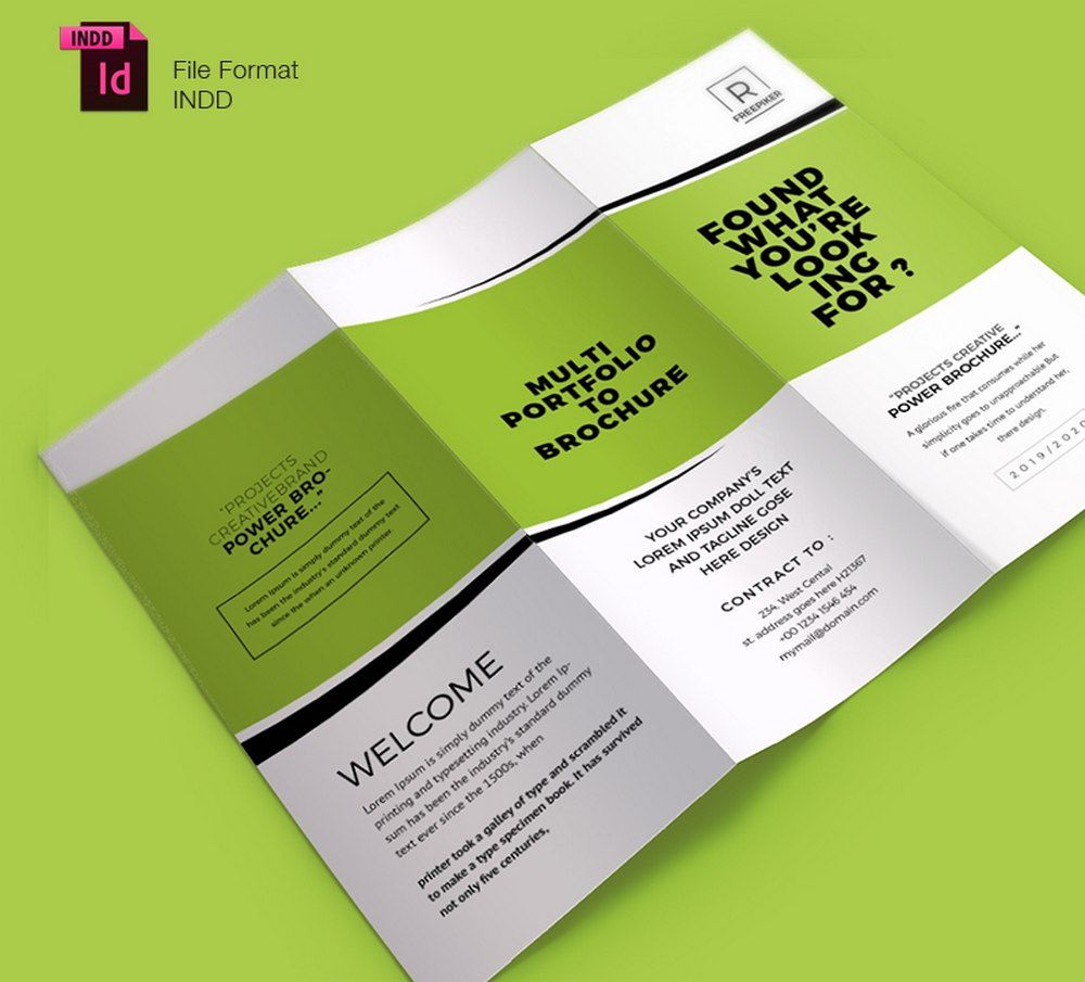 005 Marvelou Tri Fold Brochure Indesign Template Photo  Free AdobeFull
