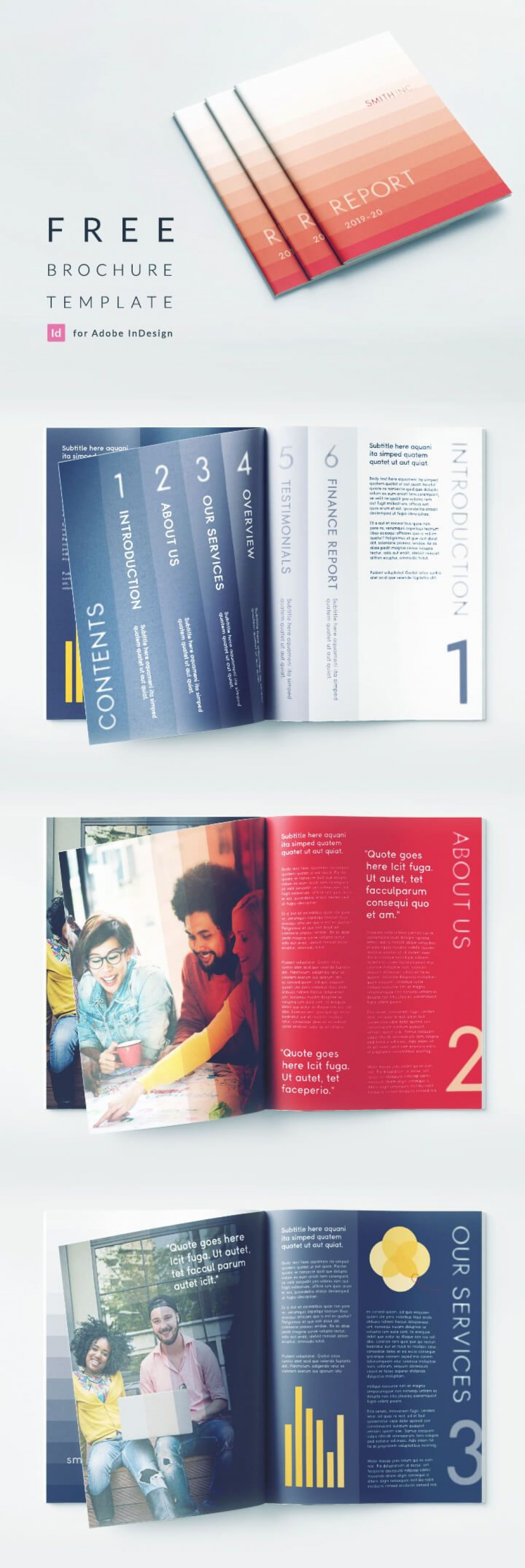 005 Outstanding Adobe Indesign Brochure Template Free Download High Definition Large