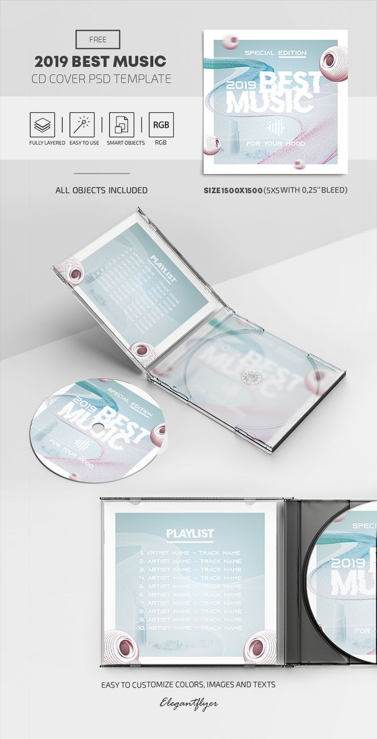 005 Outstanding Cd Cover Template Psd High Definition  Sleeve Case Free Download LayoutFull