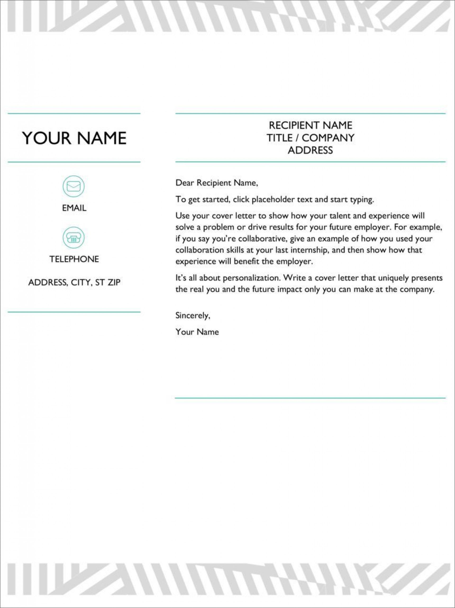 005 Outstanding Download Cover Letter Template In Microsoft Word Image  Free Creative Resume1920
