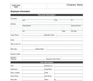 005 Outstanding Employee Emergency Contact Form Template Photo  Free360