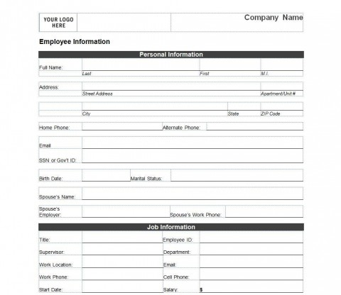 005 Outstanding Employee Emergency Contact Form Template Photo  Free480