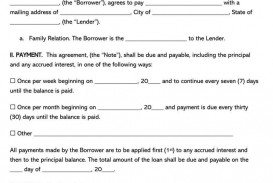 005 Outstanding Family Loan Agreement Format India Example