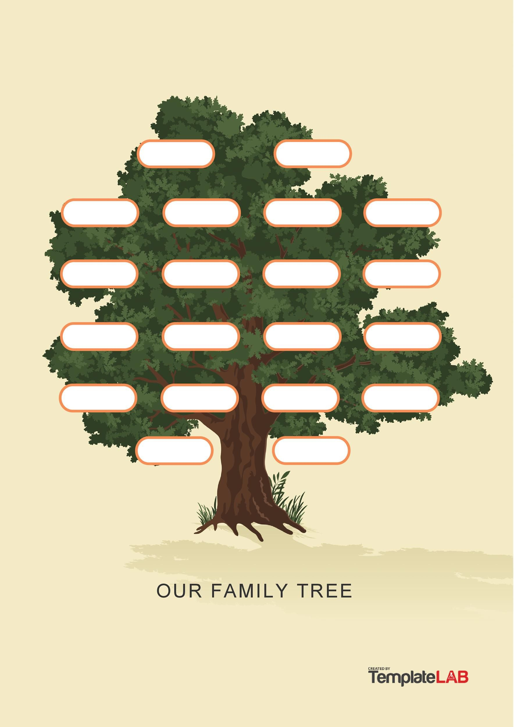 005 Outstanding Family Tree Template Word Free Download Picture Full